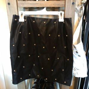 Black studded forever 21 skirt